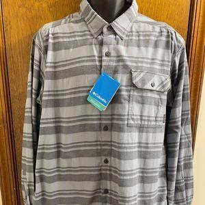 Columbia Weston Pass Blue Flannel Long Sleeve